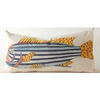 Canvas - Blue & Yellow Tropical Fish Pillow