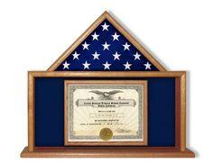 Semper Flag Display Case And Fidelis Flag Cases