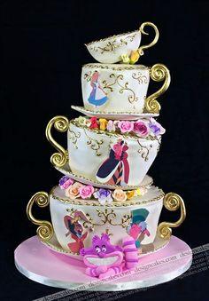 Alice in Wonderland tea party cake