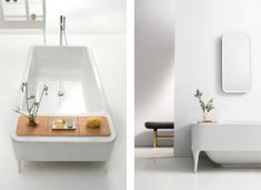 Touch of Glamour Bathroom Furniture: Touch Of Glamour Bathroom Furniture With White Bathtub Color And Flower Vase And Wall Mirror Bathroom Furniture Design, Bathroom Collections, Luxury Bath, Glamour, Small Bathroom, Modern Bathroom, Vases Decor, House Rooms, Amazing Bathrooms