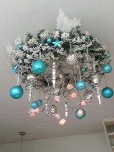 Kerstkrans turquoise