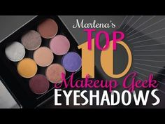 ▶ My Top 10 Makeup Geek Eye Shadows | Makeup Geek - YouTube; Pop Culture; Chickadee;