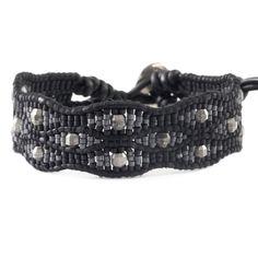 Chan Luu - Black Bead Leather Cuff Bracelet, $155.00 (http://www.chanluu.com/bracelets/black-bead-leather-cuff-bracelet/)
