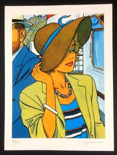 """Giardino, Vittorio - Max Fridman - """"Donna con cappello"""" - """"Donna in nero"""" - Grafiche numerate e firmate - Catawiki"""