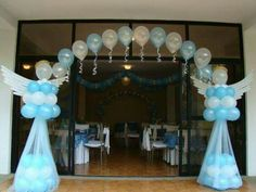 Baby Christening presents ,helium balloons,Communion balloons gifts balloons delivery Baby Boy Baptism, Baptism Party, Baby Christening, Baby Party, Baby Boy Shower, Baptism Ideas, Decoration Communion, Party Decoration, Birthday Decorations