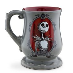 Jack Skellington Coffee Mug. LOL i would refuse to drink out of anything else if i had this