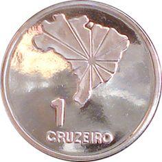 Moeda brasileira de 1 cruzeiro de níquel 1972 alusiva ao Sesquicentenário  da Independência do Brasil