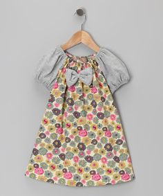 Lele Vintage | Daily deals for moms, babies and kids....like the bow on front of this peasant style dress