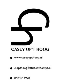 Visitekaartje Achterkant - Casey op't Hoog