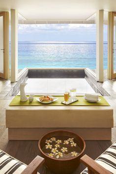 Nothing better than an ocean view to put you in a relaxed mood at the Viceroy Maldives spa.