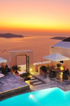 Golden Sunset over Fira, Santorini #famfinder