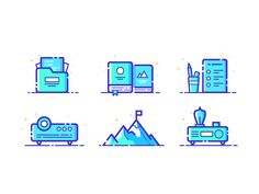 icons by Rainbow03 #Design Popular #Dribbble #shots