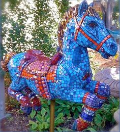 """""""BHC Horse""""- 2010 mosaic by Jackie Stack Lagakos"""