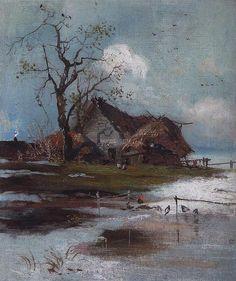 Spring (6), 1890 by Aleksey Savrasov (1830-1897, Russia)
