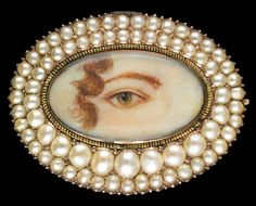 Lover's Eyes: A History Lesson - Katie Considers-rose-gold brooch with double row of pearls. (Photo: Birmingham Museum of Art) Birmingham Museum Of Art, Antique Jewelry, Vintage Jewelry, Antique Earrings, Victorian Jewelry, Art Nouveau, Lovers Eyes, Art Premier, Miniature Portraits