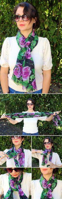 13 ways to wear a scarf