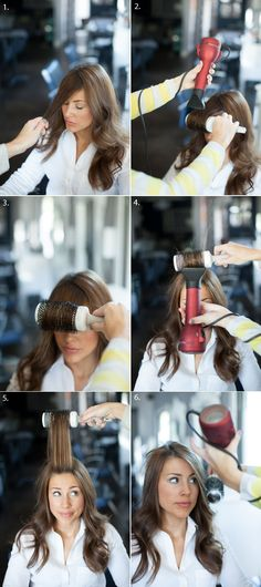 How to blow-dry swoop bangs