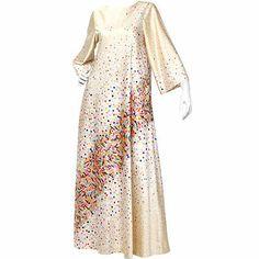 Colorful Elizabeth Arden maxi dress 1960s /1970s