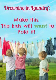 Your kids will want to fold laundry with this fun shirt folding board. Have neatly folded clothes every time!