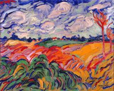 An incredible blend of colour in this fauvist piece by the great Maurice de Vlaminck. Landscape near Antwerp Georges Braque, 1906 Henri Matisse, Andre Derain, Landscape Art, Landscape Paintings, Fauvism Art, Maurice De Vlaminck, Art Du Monde, Milwaukee Art Museum, Raoul Dufy