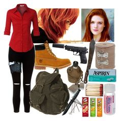 """Mack season 7 TDW"" by bandtrashbean ❤ liked on Polyvore featuring New Look, LE3NO and Timberland"