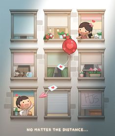 No Matter the distance - HJ-Story Hj Story, Cute Couple Cartoon, Cute Cartoon, Chibi Couple, Cute Love Stories, Love Story, Cover Design, Ah O Amor, Love Is Comic