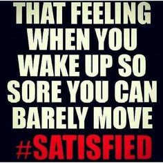 That feeling when you wake up so sore you can barely move. Yeah baby, this is totally #WildlyAlive! #selflove #fitness #health #nutrition #weight #loss LEARN MORE → www.WildlyAliveWeightLoss.com