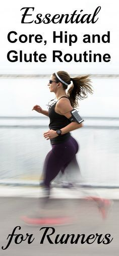 Core, hip, glute workout for runners