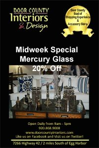 Carol Trimbergerdoor County Interiors Design Midweek Special All Of Our Mercury Gl Accessories Are 20 Off