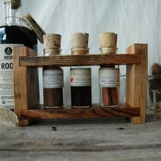 Eggnog, Winter Brew Spice Rack made of Reclaimed Wood
