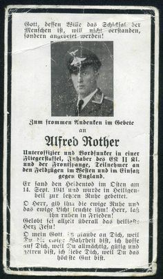 orig. WK2 STERBEBILD - DEATH CARD - PILOT - ENGLAND FLIEGER - LUFTWAFFE KIA 1941