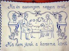 FALVÉDŐK A KONYHÁBÓL / Többi képért katt a posztra ! Hungarian Embroidery, Vintage Embroidery, Embroidery Neck Designs, Embroidery Patterns, Witch House, Afghan Crochet Patterns, Textiles, Illustrations And Posters, Hungary