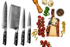 KNIVES THAT MAKE YOUR KITCHEN TASKS EASIER. THIS 4PCS CORE CHEF'S KNIFE SET IS AN INDISPENSABLE TOOL FOR ALL YOUR KITCHEN TASKS AND EXTREMELY SHARP. WITH A STAINLESS STEEL BLADE, IT IS DURABLE AND CORROSION RESISTANT. Chef Knife Set, Knife Sets, Cleaver Knife, Utility Knife, Damascus Steel, Kitchen Knives, Blade, Core, Stainless Steel