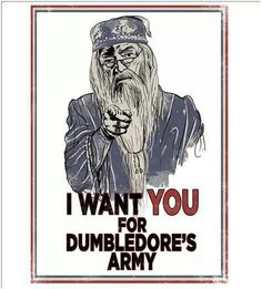 I want you for Dumbledore's Army!