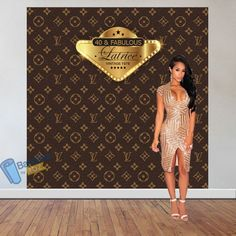Louis Vuitton inspired theme party backdrop - Step and Repeat Backdrop for Birthd Banner Backdrop, Birthday Backdrop, 50th Birthday Party, Birthday Ideas, Gatsby Themed Party, Themed Parties, Personalized Birthday Banners, 40 And Fabulous, Louis Vuitton