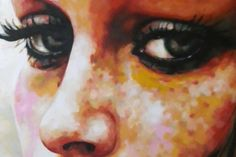 Close up freckels