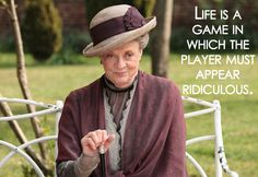 Didn't think I could love Maggie Smith more than I did as Professor McGonagall... and then I met her as Lady Violet