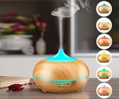 Aromatherapy Essential Oil Diffuser, URPOWER Wood Grain Ultrasonic Cool Mist Whisper-Quiet Humidifier with Color LED Lights Changing & 4 Timer Settings, Waterless Auto Shut-Off for Spa Baby - Essential Oils Ultrasonic Cool Mist Humidifier, Best Essential Oil Diffuser, Best Essential Oils, Home Staging, Feng Shui, Dorm Room Accessories, Decoracion Low Cost, Soothing Colors, Aromatherapy