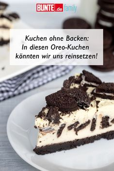Cake without baking: recipe: we could sit in this oreo cake! - Cake without baking: recipe: we could sit in this oreo cake! bake # could - Cheesecake Oreo, Oreo Cake, Oreo Brownies, Oreo Cupcakes, Baking Recipes, Cookie Recipes, Dessert Recipes, Oreo Dessert, Easy Recipes