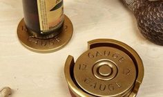 12 GAUGE SHOTGUN SHELL COASTERS. NEED THESE!!
