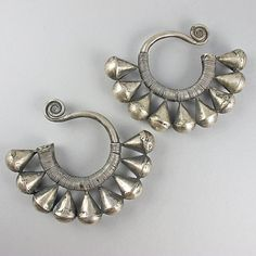 Vintage Chinese Silver Earrings Miao Hmong Jewelry Ethnic Jewelry Asian Jewelry Vintage Jewellery