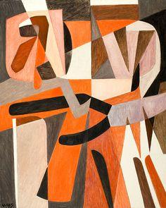 """Oswaldo Vigas """"Ligurea Ludica"""" 1970  39.3"""" x 31.4"""""""