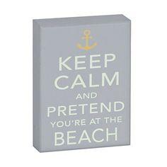 Coastal Keep Calm Wooden Plaque, $7.00