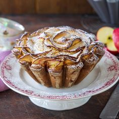 Apple cake with mascarpone Bbq Desserts, Great Desserts, Delicious Desserts, Pie Cake, No Bake Cake, Lunch Snacks, Cake Cookies, Cupcake Cakes, Baking Recipes