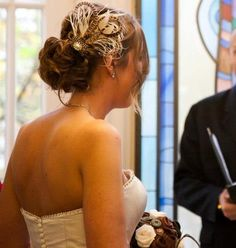 Handmade pheasant feather and diamanté bridal hair clip. My tweed wedding. www.littlegreenowl.co.uk Wedding Hair And Makeup, Bridal Hair, Hair Makeup, Tweed Wedding, Rustic Wedding, Wedding Ideas, Cornflower Wedding, Feather Hair Pieces, Pheasant Feathers