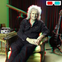 Brian May - 3D Anaglyph Photography.