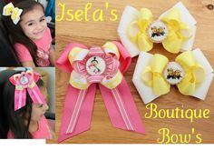 Despicable Me 2 -Set of 3 Hair Bow