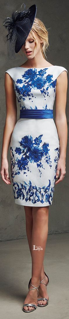blue vintage cocktail dress 2015