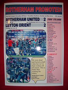 Rotherham United 2 Leyton Orient 2 - Rotherham promoted - 2014 - souvenir print Lilywhite Multimedia http://www.amazon.co.uk/dp/B012HD1MLS/ref=cm_sw_r_pi_dp_X6A0vb0Q1T16J