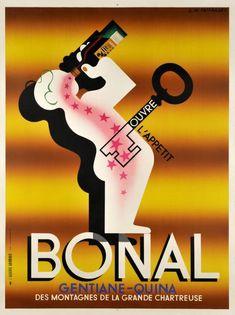 Bonal Gentiane-Quina ouvre l'appétit by Cassandre A.m. Adolphe Jean-marie Mouron / 1935